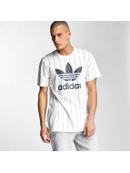 adidas T-Shirt Tokyo Pinstripes white