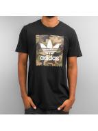 adidas t-shirt Camo Blackbird zwart