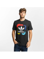 adidas t-shirt Rectangle 1 zwart