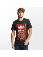 adidas t-shirt Tongue Label 1 zwart