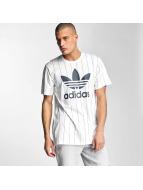 adidas T-Shirts Tokyo Pinstripes beyaz