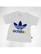 adidas T-Shirts Trefoil beyaz