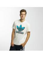 adidas T-Shirts Trefoil 2 beyaz