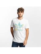 adidas T-Shirts Trefoil 1 beyaz