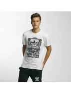 adidas T-Shirts Rectangle 3 beyaz