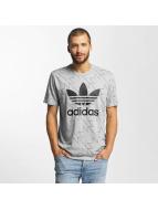 adidas T-Shirts Trefoil AOP gri