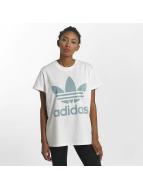 adidas T-shirts Big Trefoil hvid