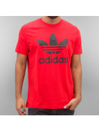 adidas T-Shirts Orig Trefoil kırmızı