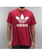 adidas T-Shirts Original Trefoil kırmızı