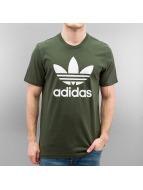 adidas T-Shirts Original Trefoil zeytin yeşili
