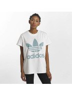 adidas T-Shirty Big Trefoil bialy