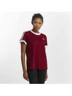 adidas T-Shirty 3 Stripes czerwony