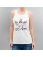 adidas Tank Tops Trefoil bialy