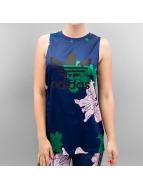 adidas Tank Tops Flower Print blau
