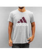 adidas Tričká Essentials Logo šedá