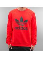 adidas Tröja Trefoil Fleece röd