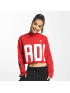 adidas trui Croppped High Neck rood