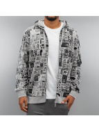 adidas Zip Hoodie Street GRP AOP French Terry szary