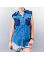 All About Eve Blouse Double Denim blauw