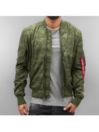 Alpha Industries Демисезонная куртка MA-1 TT зеленый
