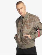 Alpha Industries Демисезонная куртка MA-1 TT камуфляж