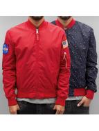 Alpha Industries Демисезонная куртка MA-1 TT Nasa красный