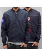 Alpha Industries Демисезонная куртка MA-1 TT Nasa синий