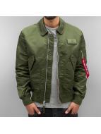 Alpha Industries Куртка-бомбардир CWU LW PM зеленый