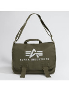 Alpha Industries Сумка Big A Canvas Courier оливковый