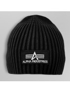 Alpha Industries Beanie Heavy Rip schwarz