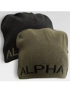 Alpha Industries Beanie Reversible zwart