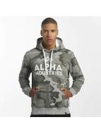 Alpha Industries Bluzy z kapturem Foam Print szary