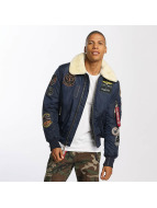 Alpha Industries Bomberjacke Injector III Patch blau