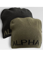 Alpha Industries Bonnet Reversible noir