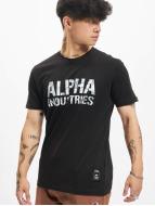 Alpha Industries Camiseta Camo negro
