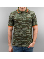 Alpha Industries Camiseta polo Twin Stripe Camo camuflaje