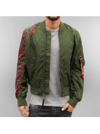 Alpha Industries Cazadora bomber MA-1 TT Tattoo verde