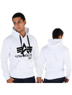 Alpha Industries Hoodie Big A Classic white