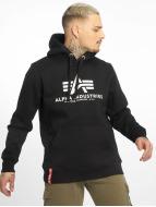 Alpha Industries Hoodies Basic čern