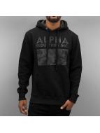 Alpha Industries Hoody Camouflage Print schwarz