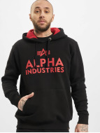 Alpha Industries Hoody Foam Print zwart