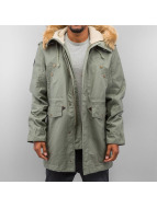 Alpha Industries Mantel Hooded Fishtail olive