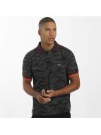 Alpha Industries Poloshirt Twin Stripe Camo schwarz