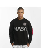 Alpha Industries Pullover NASA Reflective black