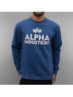 Alpha Industries Pullover Foam Print blau