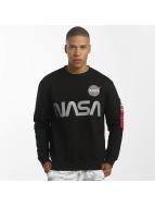 Alpha Industries Pullover NASA Reflective schwarz