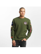 Alpha Industries Pullover Patch vert