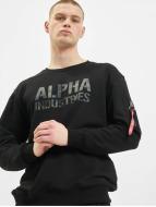 Alpha Industries Puserot Camo Print musta