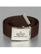 Alpha Industries riem Heavy Duty bruin