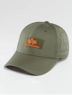 Alpha Industries Snapback Cap Velcro green